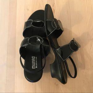 Women's Munro Eclipse Patent & Kid Leather Sandal